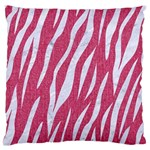 SKIN3 WHITE MARBLE & PINK DENIM Large Flano Cushion Case (One Side) Front
