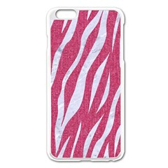 Skin3 White Marble & Pink Denim Apple Iphone 6 Plus/6s Plus Enamel White Case