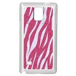 SKIN3 WHITE MARBLE & PINK DENIM Samsung Galaxy Note 4 Case (White) Front
