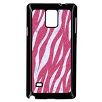 SKIN3 WHITE MARBLE & PINK DENIM Samsung Galaxy Note 4 Case (Black) Front