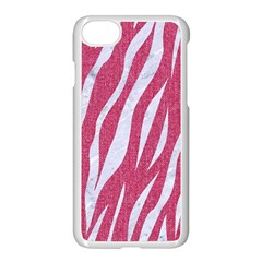 Skin3 White Marble & Pink Denim Apple Iphone 7 Seamless Case (white)