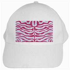 Skin2 White Marble & Pink Denim (r) White Cap