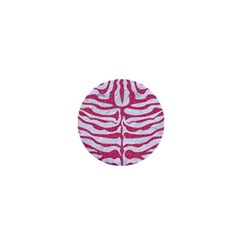 Skin2 White Marble & Pink Denim (r) 1  Mini Magnets by trendistuff