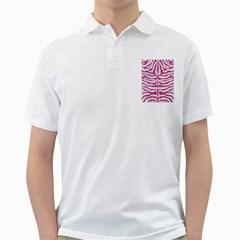 SKIN2 WHITE MARBLE & PINK DENIM (R) Golf Shirts