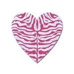 SKIN2 WHITE MARBLE & PINK DENIM (R) Heart Magnet Front