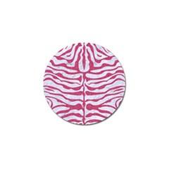 Skin2 White Marble & Pink Denim (r) Golf Ball Marker (4 Pack)