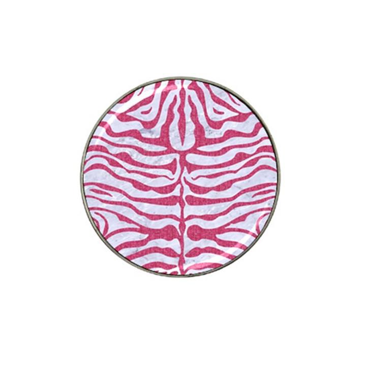 SKIN2 WHITE MARBLE & PINK DENIM (R) Hat Clip Ball Marker (4 pack)