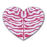 SKIN2 WHITE MARBLE & PINK DENIM (R) Heart Mousepads Front