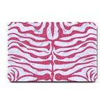 SKIN2 WHITE MARBLE & PINK DENIM (R) Small Doormat  24 x16 Door Mat - 1