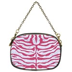SKIN2 WHITE MARBLE & PINK DENIM (R) Chain Purses (Two Sides)  Front