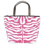 SKIN2 WHITE MARBLE & PINK DENIM (R) Bucket Bags Front