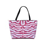 SKIN2 WHITE MARBLE & PINK DENIM (R) Shoulder Handbags Back