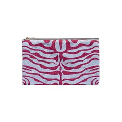 SKIN2 WHITE MARBLE & PINK DENIM (R) Cosmetic Bag (Small)