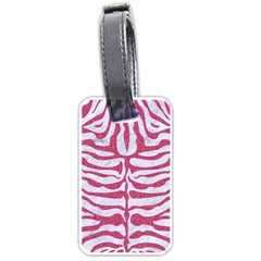 SKIN2 WHITE MARBLE & PINK DENIM (R) Luggage Tags (One Side)