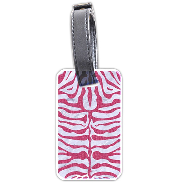 SKIN2 WHITE MARBLE & PINK DENIM (R) Luggage Tags (Two Sides)