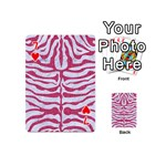 SKIN2 WHITE MARBLE & PINK DENIM (R) Playing Cards 54 (Mini)  Front - Heart7
