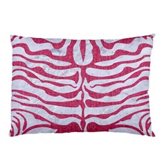 Skin2 White Marble & Pink Denim (r) Pillow Case (two Sides)