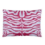 SKIN2 WHITE MARBLE & PINK DENIM (R) Pillow Case (Two Sides) Back