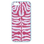 SKIN2 WHITE MARBLE & PINK DENIM (R) Apple Seamless iPhone 5 Case (Color) Front
