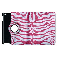Skin2 White Marble & Pink Denim (r) Apple Ipad 3/4 Flip 360 Case