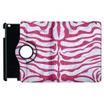 SKIN2 WHITE MARBLE & PINK DENIM (R) Apple iPad 3/4 Flip 360 Case Front
