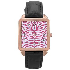 Skin2 White Marble & Pink Denim (r) Rose Gold Leather Watch  by trendistuff