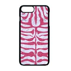 SKIN2 WHITE MARBLE & PINK DENIM (R) Apple iPhone 7 Plus Seamless Case (Black)