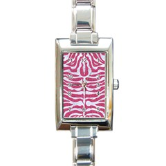 Skin2 White Marble & Pink Denim Rectangle Italian Charm Watch