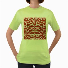 SKIN2 WHITE MARBLE & PINK DENIM Women s Green T-Shirt