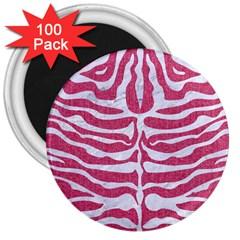 SKIN2 WHITE MARBLE & PINK DENIM 3  Magnets (100 pack)