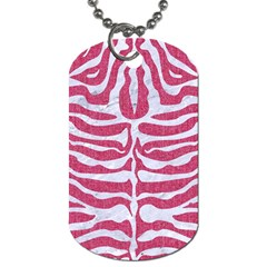 Skin2 White Marble & Pink Denim Dog Tag (one Side) by trendistuff