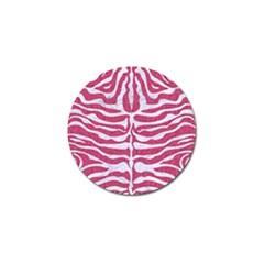 Skin2 White Marble & Pink Denim Golf Ball Marker by trendistuff