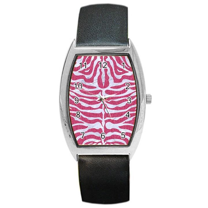 SKIN2 WHITE MARBLE & PINK DENIM Barrel Style Metal Watch