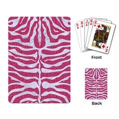 SKIN2 WHITE MARBLE & PINK DENIM Playing Card