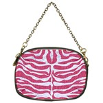 SKIN2 WHITE MARBLE & PINK DENIM Chain Purses (One Side)  Front