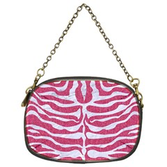Skin2 White Marble & Pink Denim Chain Purses (two Sides)