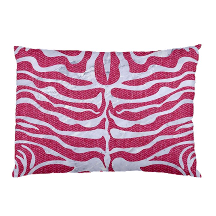 SKIN2 WHITE MARBLE & PINK DENIM Pillow Case
