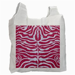 SKIN2 WHITE MARBLE & PINK DENIM Recycle Bag (One Side)