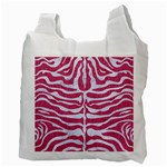 SKIN2 WHITE MARBLE & PINK DENIM Recycle Bag (Two Side)  Back