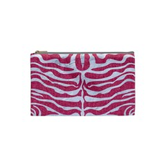 Skin2 White Marble & Pink Denim Cosmetic Bag (small)