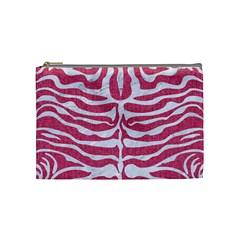 SKIN2 WHITE MARBLE & PINK DENIM Cosmetic Bag (Medium)