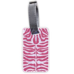 SKIN2 WHITE MARBLE & PINK DENIM Luggage Tags (One Side)