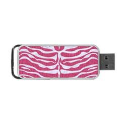 SKIN2 WHITE MARBLE & PINK DENIM Portable USB Flash (Two Sides)