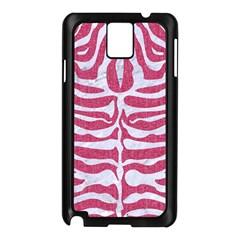 Skin2 White Marble & Pink Denim Samsung Galaxy Note 3 N9005 Case (black)