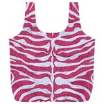 SKIN2 WHITE MARBLE & PINK DENIM Full Print Recycle Bags (L)  Front