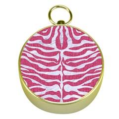Skin2 White Marble & Pink Denim Gold Compasses