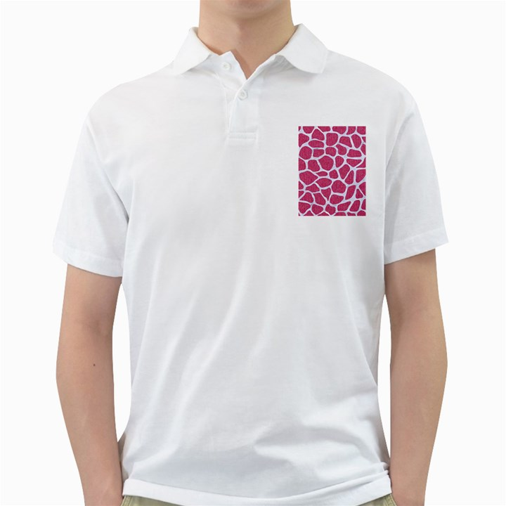 SKIN1 WHITE MARBLE & PINK DENIM (R) Golf Shirts