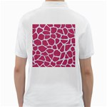 SKIN1 WHITE MARBLE & PINK DENIM (R) Golf Shirts Back