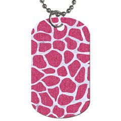 SKIN1 WHITE MARBLE & PINK DENIM (R) Dog Tag (One Side)