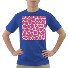 Skin1 White Marble & Pink Denim (r) Dark T Shirt
